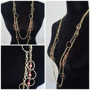 Jewelry - Beautiful Gold and Pink Necklace